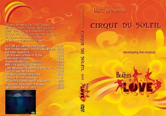 DVD LOVE Cirque doc BBC